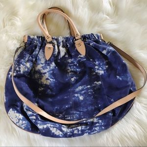 Blue and White Tie Dye Purse